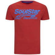 Soul Star Men's Fontery T-Shirt - Red/Light Blue