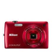 Nikon Coolpix S4300 Compact Digital Camera - Red (16MP, 6x Optical Zoom, 3 Inch LCD) - Grade A Refurb