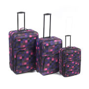 Ultimate Products 3 Piece Pink Square Eva Luggage Set