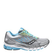 Saucony Women's Ride 6 Running Shoe - Silver/Blue/Cotton