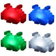 50Fifty Space Invaders Colour Changing Lamp - Multi