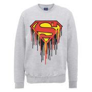 DC Comics Sweatshirt Superman Drip Logo - Heather Grey