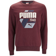 Puma Men's Fun Logo Crew Neck Sweatshirt - Biking Red