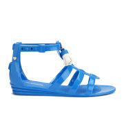 Love Moschino Women's Tassel Jelly Sandals - Bright Blue