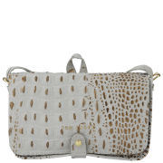 Ted Baker Women's Crocbod Exotic Stab Stitch Leather Cross Body Bag - Mid Grey