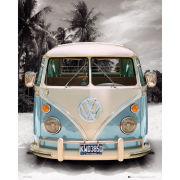 VW Californian Camper Beach - Mini Poster - 40 x 50cm