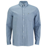 Lacoste Men's Oxford Long Sleeve Shirt - Blue