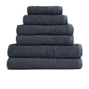 Dreamscene 100% Egyptian Cotton 6 Piece Towel Bale (550gsm) - Charcoal