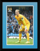 Manchester City Hart 14/15 - 8x6 Framed Photographic