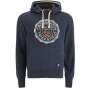 Crosshatch Men's Heyton Printed Hoody - Navy Marl