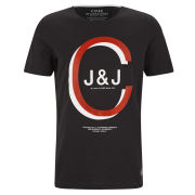 Jack & Jones Men's Overlay T-Shirt - Black