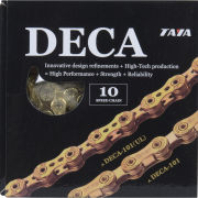 Taya Deca 101UL 116L 10 Speed Bicycle Chain - Ti-Gold