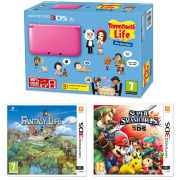 Nintendo 3DS XL Pink Console - Includes Tomodachi Life, Super Smash Bros. & Fantasty Life