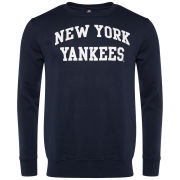 Majestic Men's Yankees Keeler Crew Neck Sweatshirt - Navy