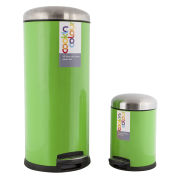 Cook In Colour Soft Close Pedal Bins (30L and 5L) - Green