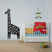 Giraffe Alphabet Vinyl Wall Art Decal for Kids and Children's Nursery (with Free Crab Decal)