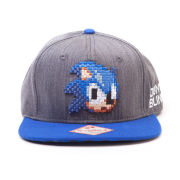 Sega Sonic The Hedgehog 2D Pixelated Head Snapback Baseball Cap
