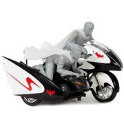 Hot Wheels Elite DC Comics Batman 1966 Batcycle With Figures 1:12 Scale Set