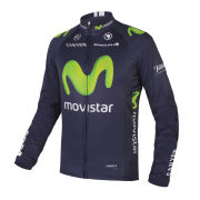 Movistar 2015 Team Replica Long Sleeve Jersey - Blue