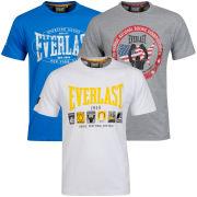 Everlast Men's 3-Pack Graphic T-Shirts - Grey Marl/White/Cobalt
