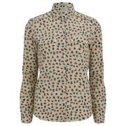 Maison Scotch Women's Silky Button Up Shirt - Multi Leopard