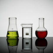 Lab Set of 3 Science Flasks - Clear