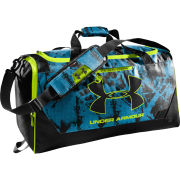 Under Armour Unisex MD Hustle Duffel - Electric Blue/Black/High-Vis Yellow