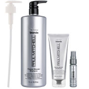 Paul Mitchell Forever Blonde Trio (Shampoo 1L, Conditioner 200ml and Dramatic Repair 25ml)