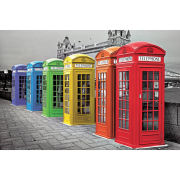 London Phoneboxes Colour - Maxi Poster - 61 x 91.5cm
