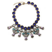 Love Rocks Floral Embellished Necklace - Multi