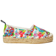 Love Moschino Women's Slip On Printed Espadrilles - White Multi