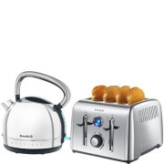 Breville Premium Toaster and Kettle Bundle - Stainless Steel