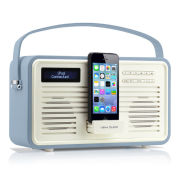 View Quest Colourgen Retro Radio and Dock - Blue (8 Pin/Lightning)