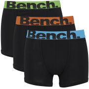 Bench Men's 3-Pack Large Logo Band Boxers - Black/Multi