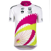 Santini Tour Down Under Young Leaders Short Sleeve Jersey - White/Black