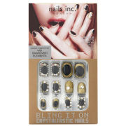 nails inc. Bling It On Crystaltastic Nails - Luxurious Black and Gold