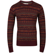 Brave Soul Men's City Jumper - Bordeaux
