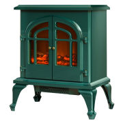 Warmlite 2000W Log Effect Stove Fire - Green