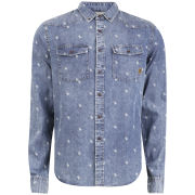 Smith & Jones Men's Librae Shirt - Mid Blue Denim