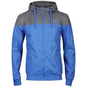 Carter Men's Fleece Lined Nylon Jacket - Grey/Cobalt