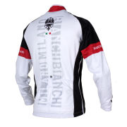 Bianchi Men's Rienza Long Sleeve Full Zip Jersey - White/Black/Red
