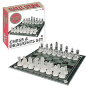 2-in-1 Chess and Draughts Set
