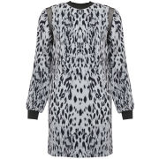 Joseph Women's Lizzie Animal Crepe Dress - Midnight Blue