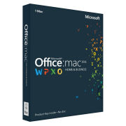 Microsoft Office For Mac Home and Business 2011 - License Card, 1 User