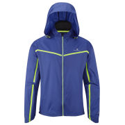 RonHill Men's Trail Microlight Running Jacket - Cobalt/Fluorescent Yellow
