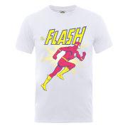 DC Comics Men's T-Shirt - Flash Running - White