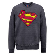DC Comics Sweatshirt - Superman Shards Logo - Steel Grey