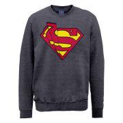 DC Comics Sweatshirt Superman Shards Logo - Steel Grey