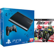 PS3: New Sony PlayStation 3 Slim Console (500 GB) - Black - Includes MotoGP 13