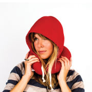 Hoodie Travel Pillow - Red